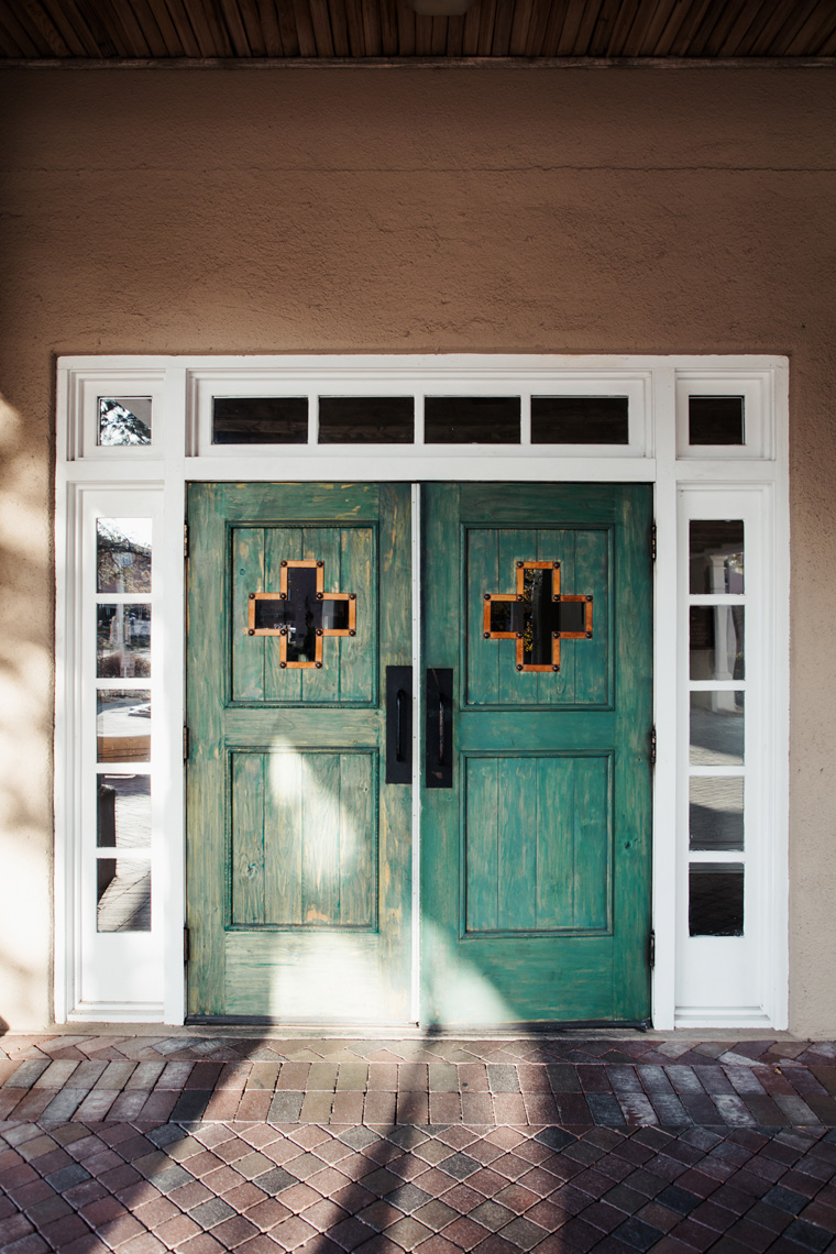 Hilton Santa Fe Historic Plaza green doors