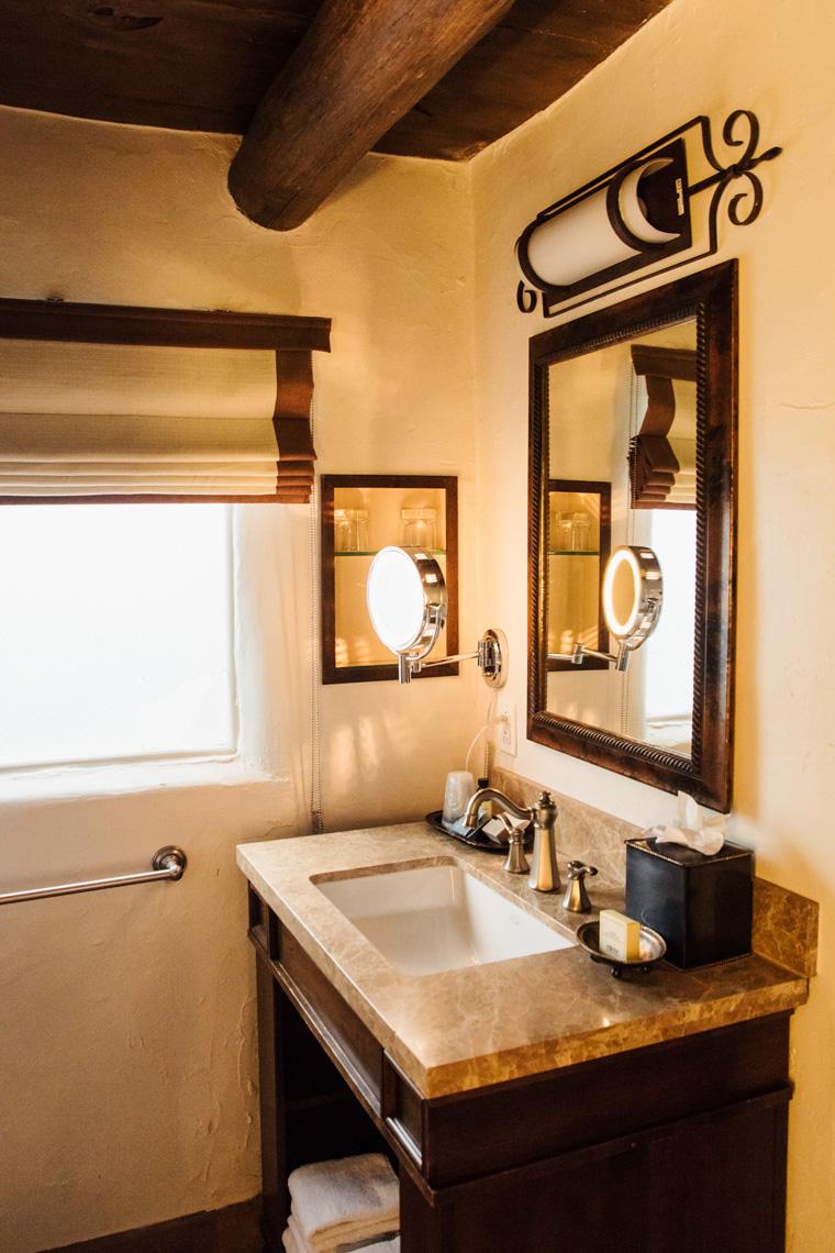 La Posada de Santa Fe bathroom sink