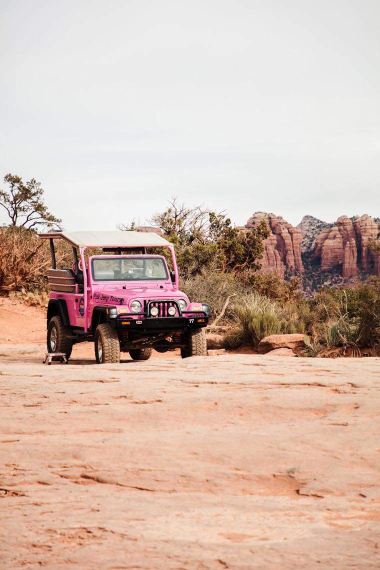 Sedona pink Jeep
