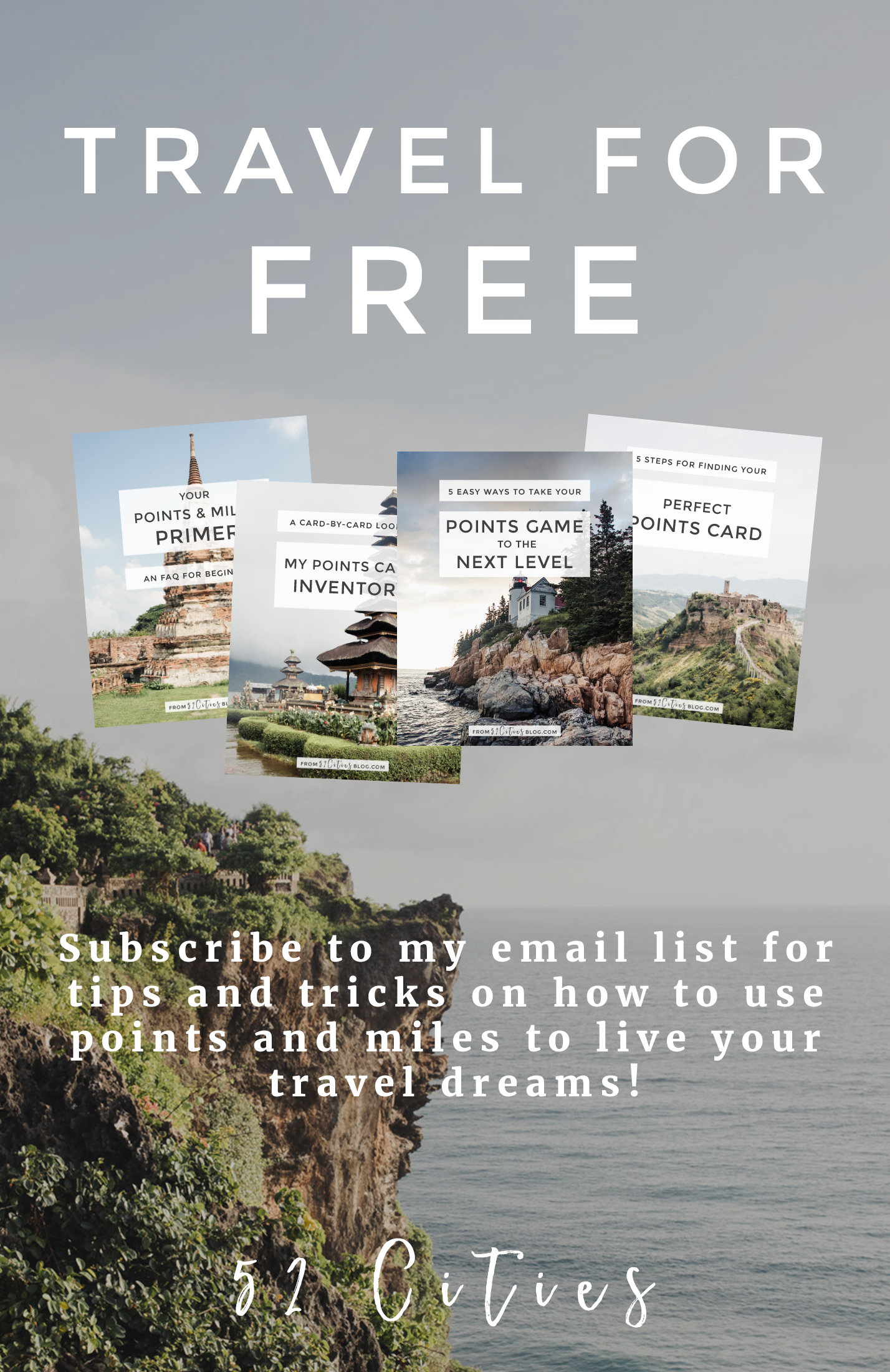 Subscribe for free travel resources