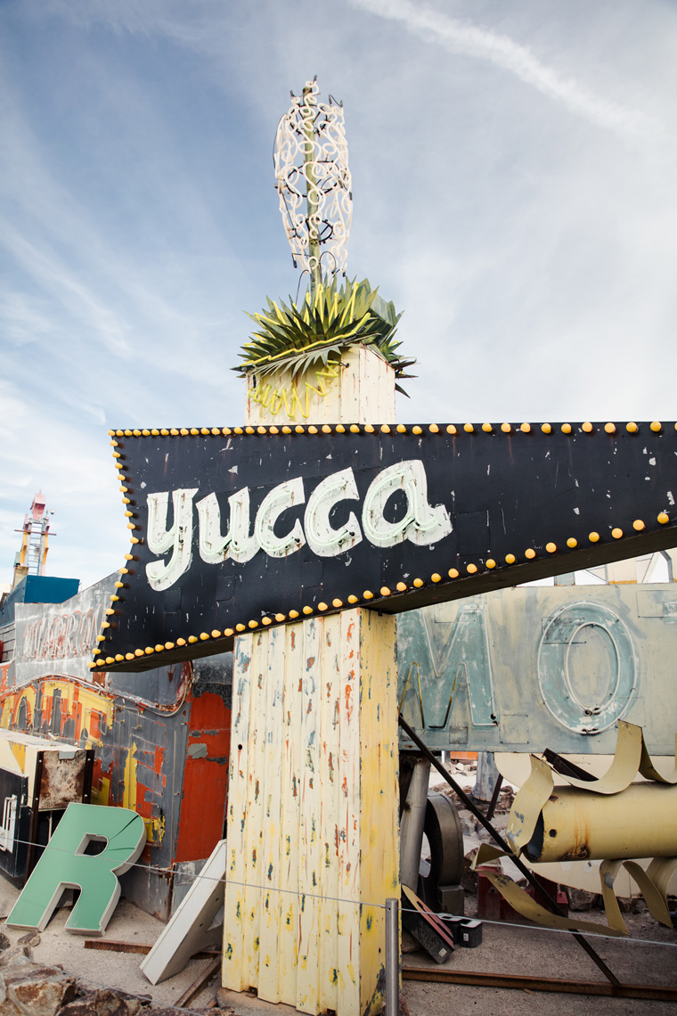 Yucca sign at the Neon Museum