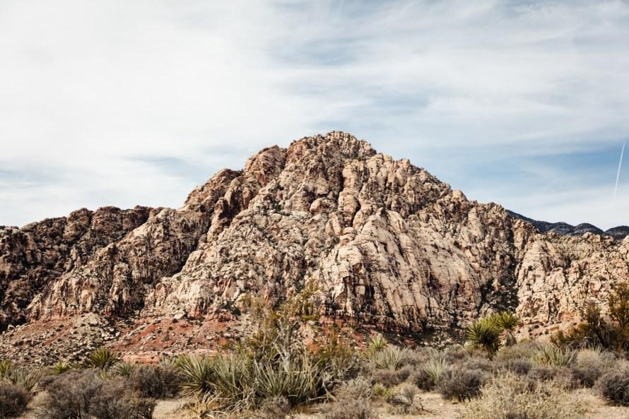White stone mountain