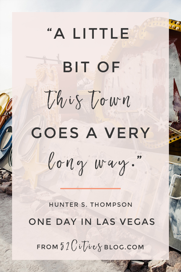 Hunter S. Thompson Quote, One day in Las Vegas