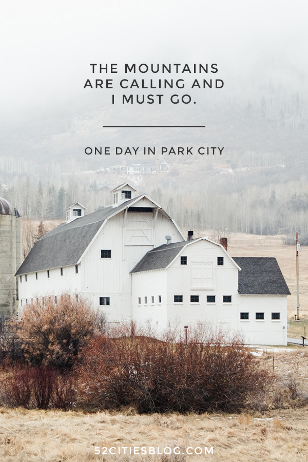 The mountains are calling and I must go - One day in Park City