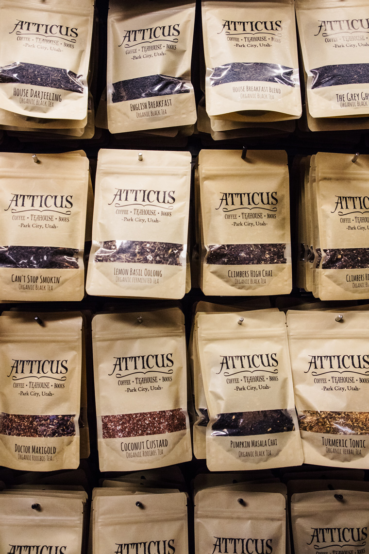 bags of dried tea at Atticus