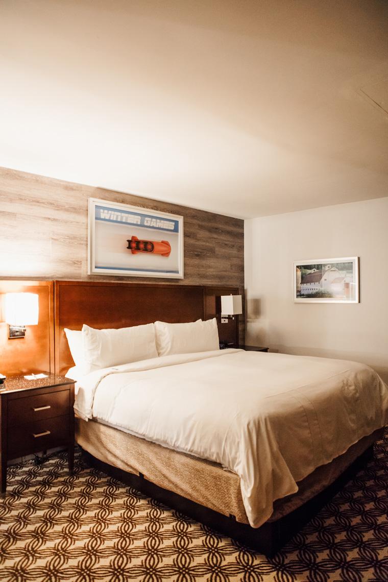 Park City Marriott hotel room bed