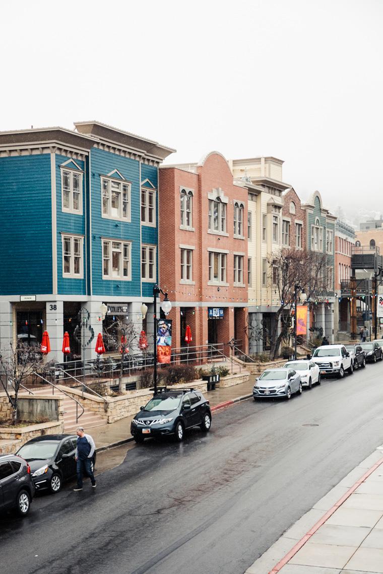 Colorful Park City buildings