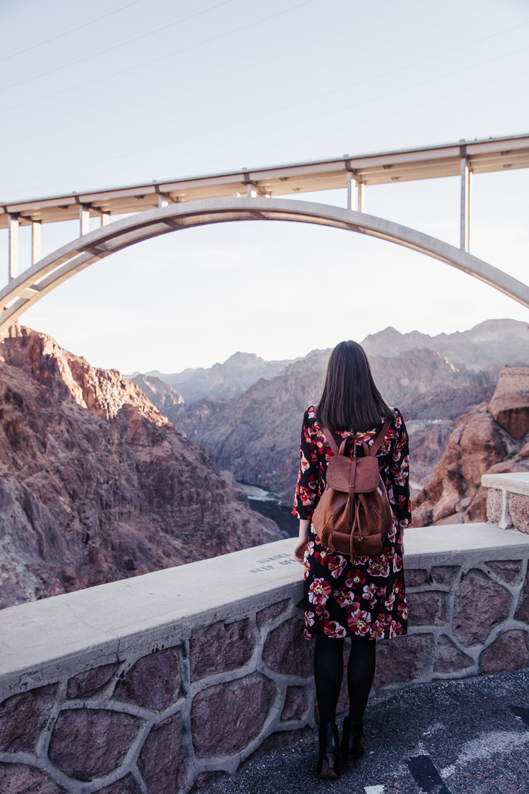 Carly looking out over Hoover Dam