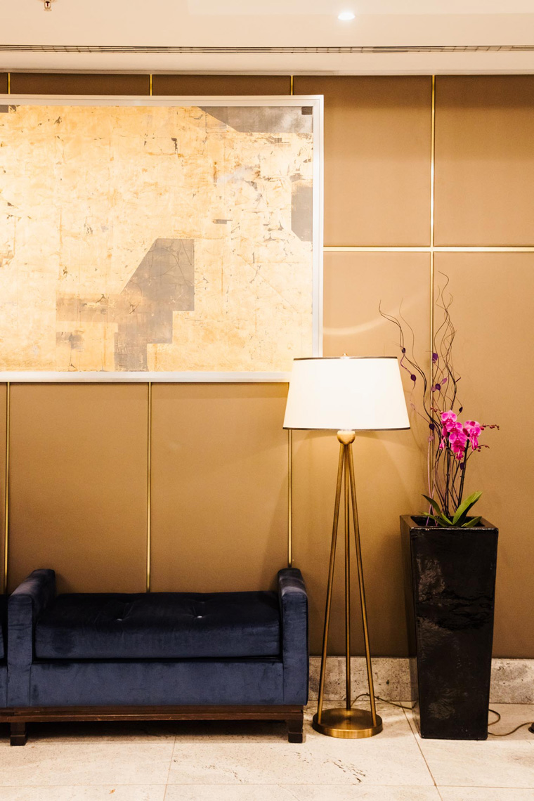 Hilton Budapest lobby furniture
