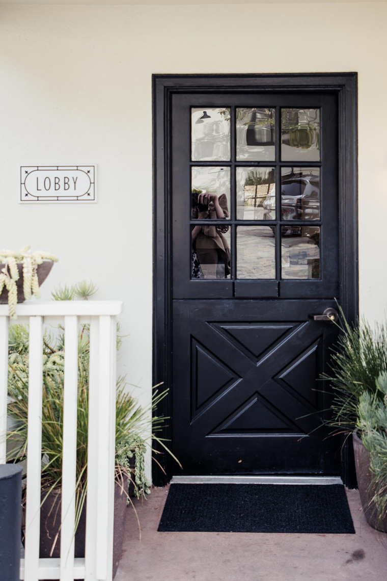 Hotel Carmel lobby door