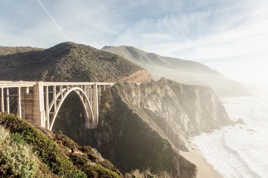 Bixby Bridge and ocean cliffs