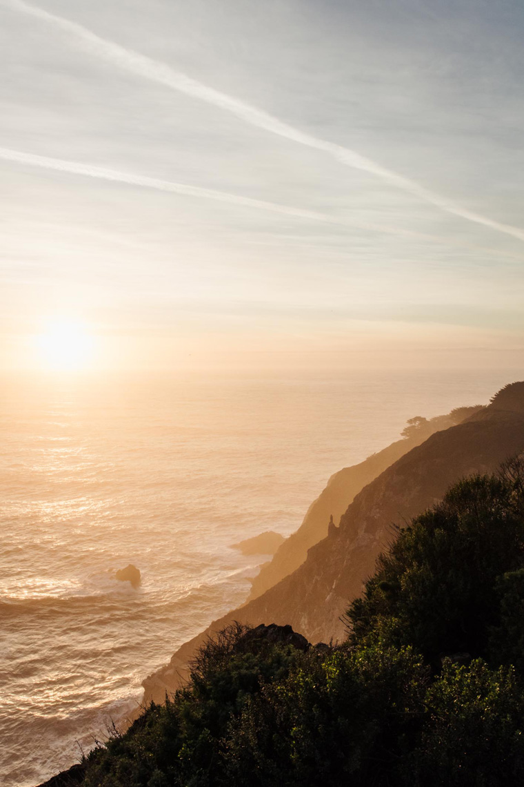 Sunset cliffs by the ocean