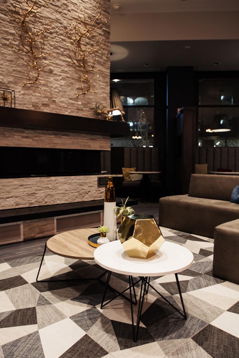 Hotel lobby table