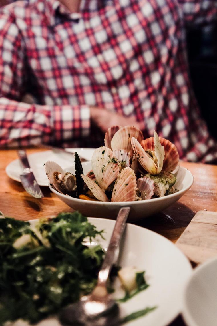 Bowl of scallop shells