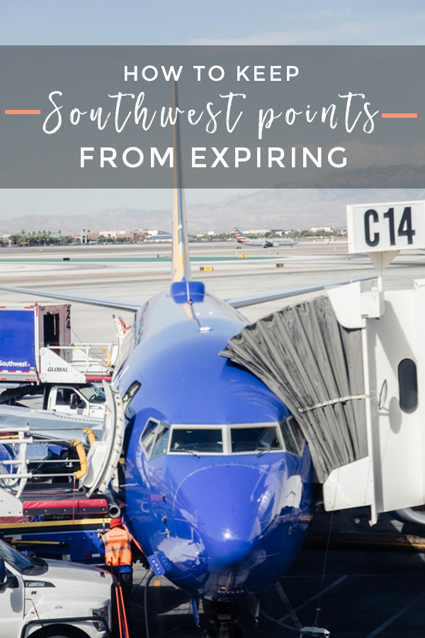 How to keep Southwest miles from expiring