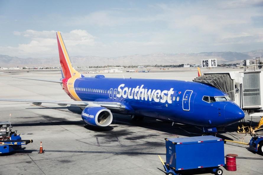 Southwest plane and jetbridge