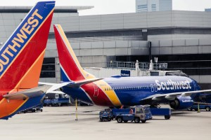 Southwest planes in Boston