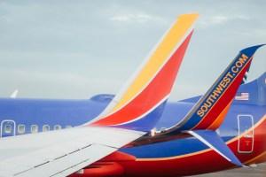 Southwest plane tails