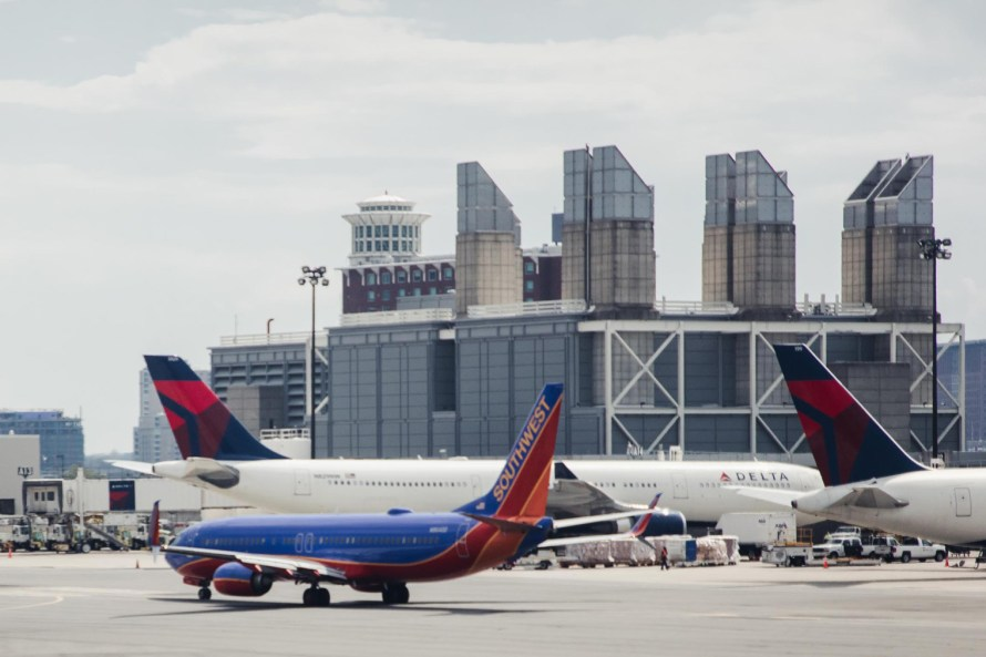 Southwest plane taxiing