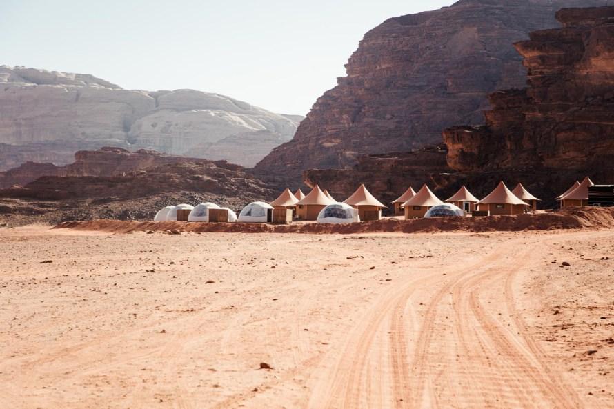 Wadi Rum desert tents