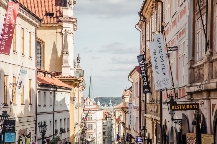 Pastel buildings - Prague two day itinerary