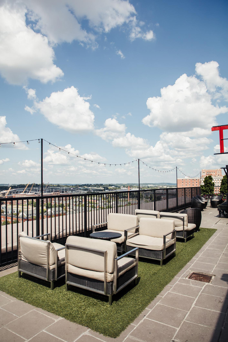 Redmont rooftop seating