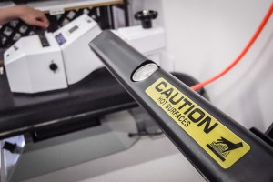 Caution: heat pressing can be very (400 degrees) hot!