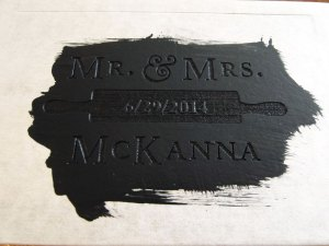 """Utterly satisfying sloppy paint job.  Notice the bubble in the transfer tape by the Ns in """"McKanna"""""""