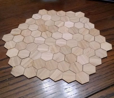 All the hexes in the full sized trivet.