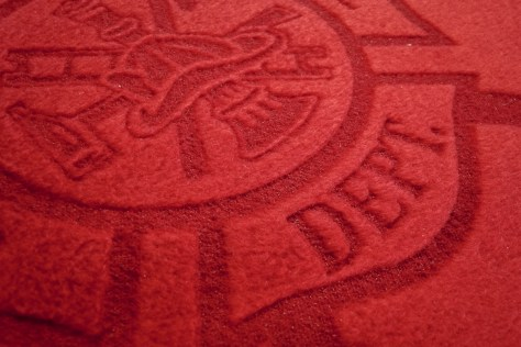 A closer look shows how the engraving affected the surface.