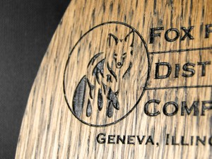 A close-up of the foxy logo.
