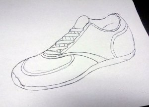 My shoe sketch