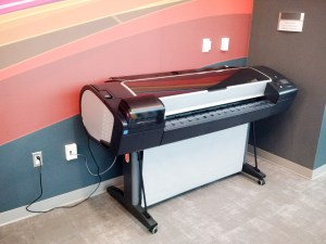 A large format plotter printer. Did I mention it's large?