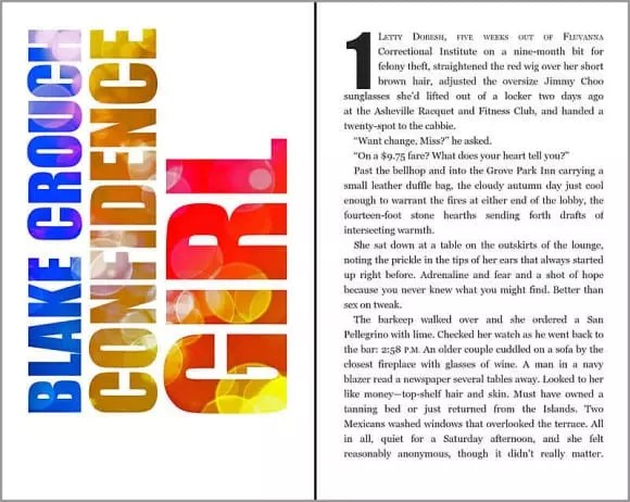 Confidence Girl title page and Chapter 1 ebook interior