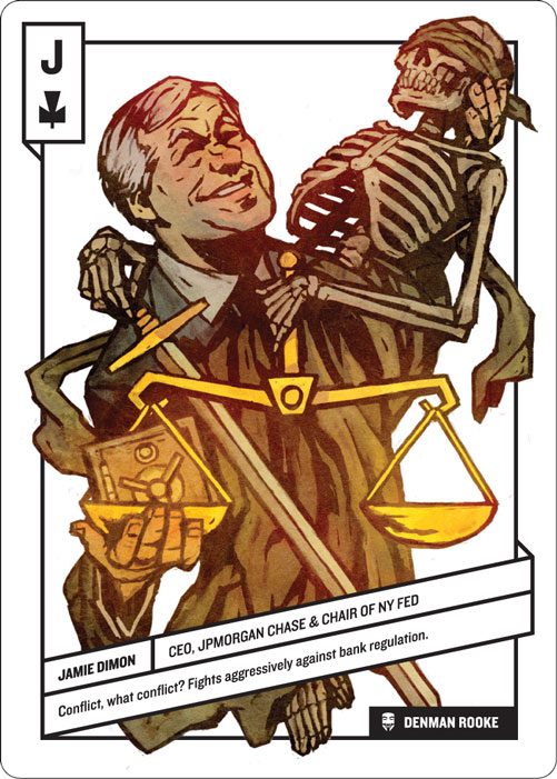 Jack of Clubs, Jamie Dimon by Denman Rooke