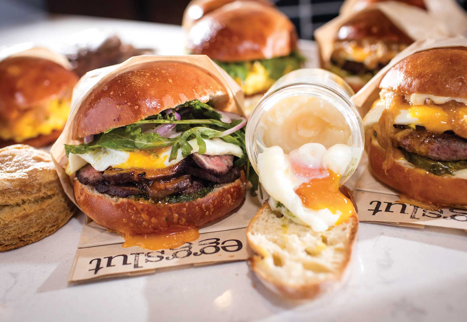 Try breakfast on the twisted side at Eggslut.