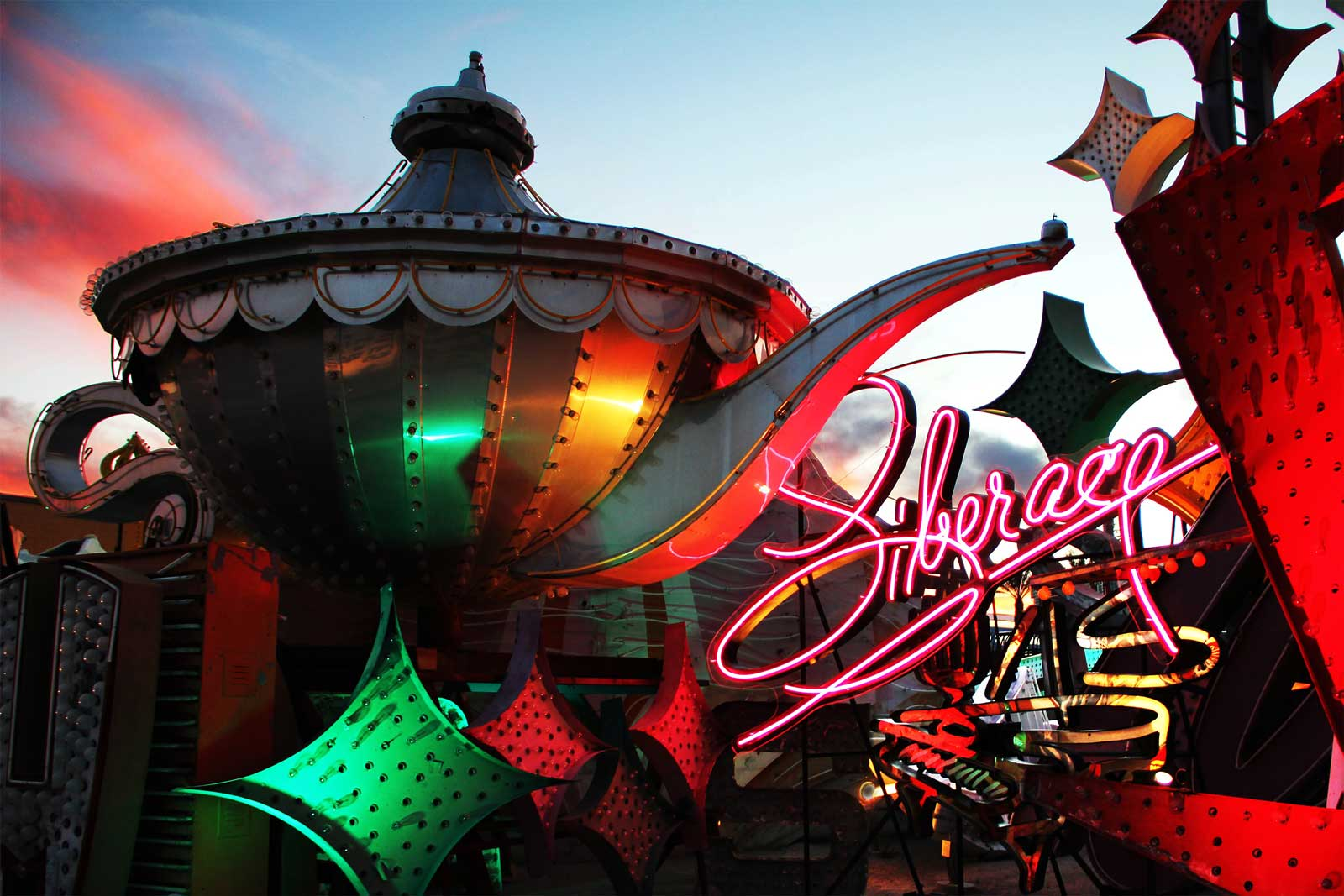 Liberace's neon sign is just one of the pieces of Vintage Vegas you'll see at The Neon Museum.