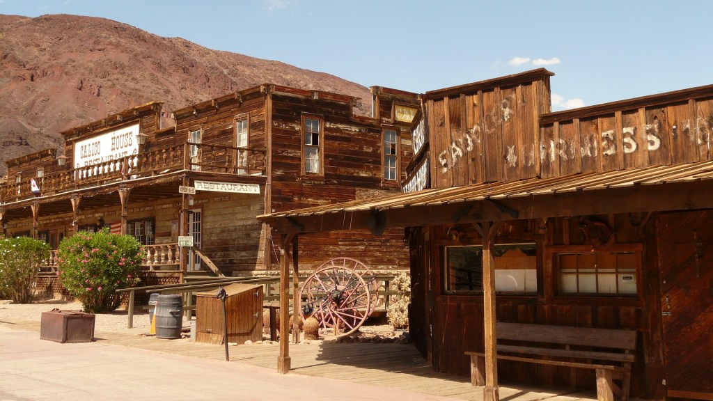 Drive to Las Vegas from California and stop at the Calico Ghost Town
