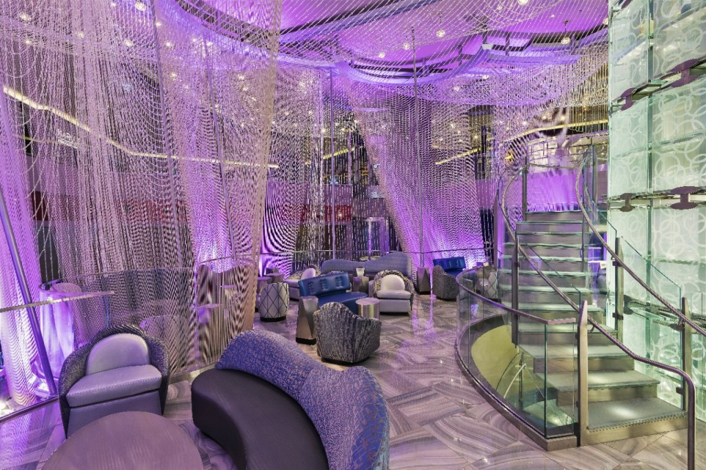 level 1.5 of The Chandelier bar