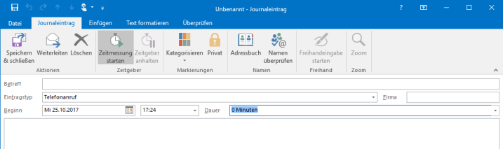 Zeitmanagement mit Outlook Screenshot