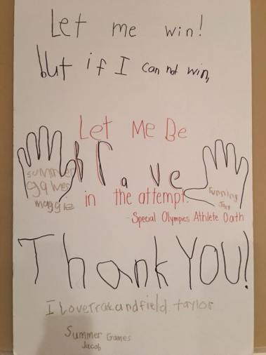 athletes poem sign