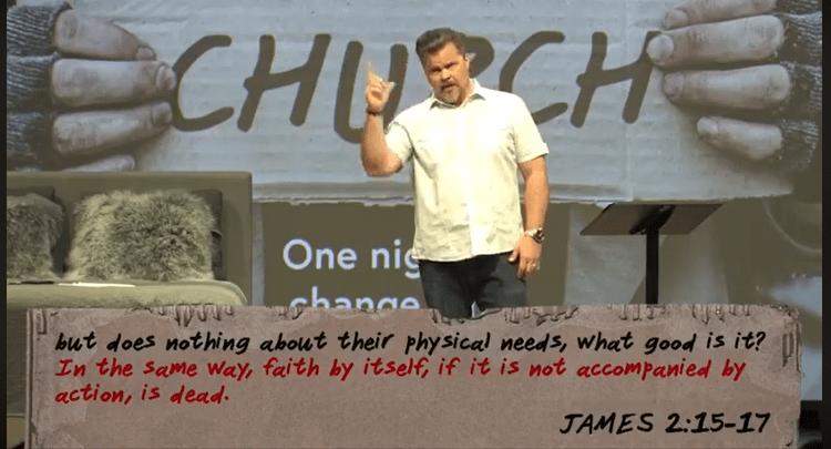 homeless church - pastor tim service