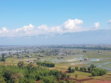 View of Inle lake from a mountain pagoda