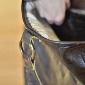 Détail du cabas en cuir