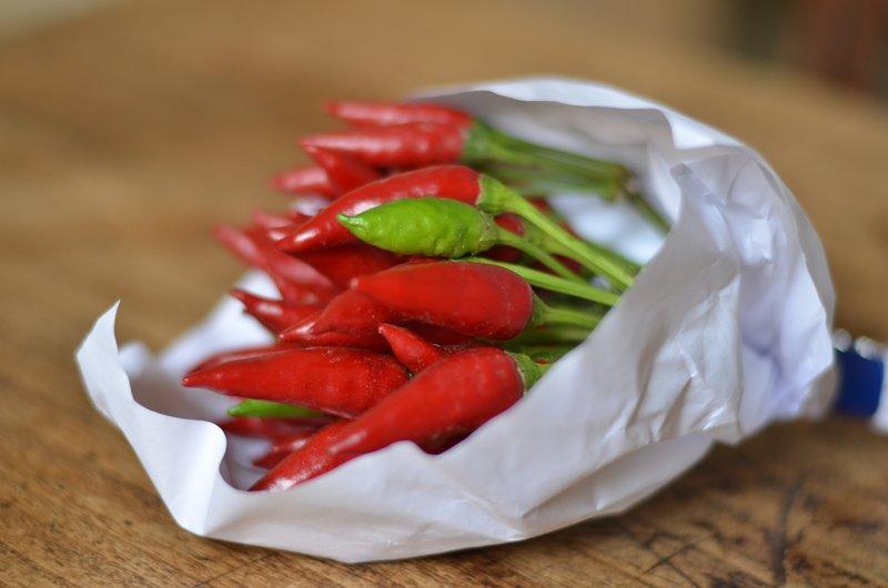 Un bouquet de piments de Sicile