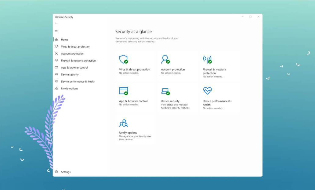 Windows Defender User Interface