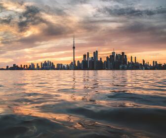Toronto Sunset visible from Toronto Island