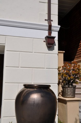 Custom Copper Downspout and Leader Head