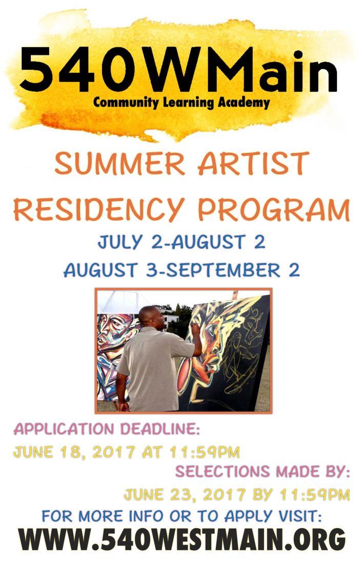 Summer Artist Residency Program
