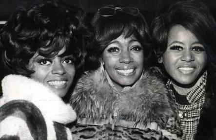 Diana Ross and the Supremes pictured at their reception at EMI House in London on January 23, 1968.